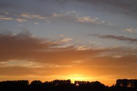 Uitzicht bij avond - sunset